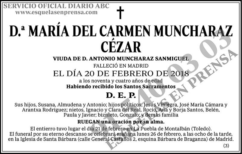 María del Carmen Muncharaz Cézar